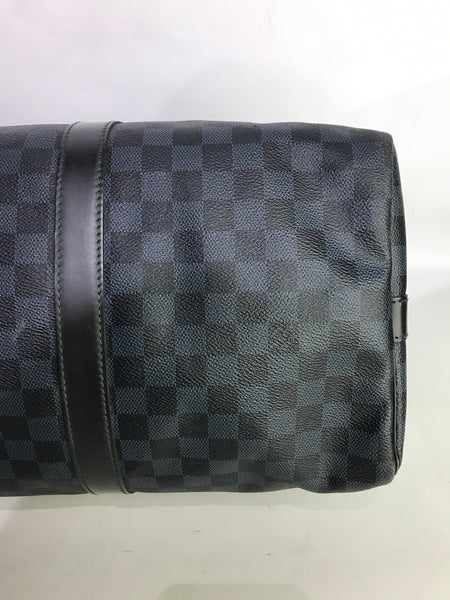 Damier Cobalt Coated Canvas Keepall Bandouliere 45 W/SHW