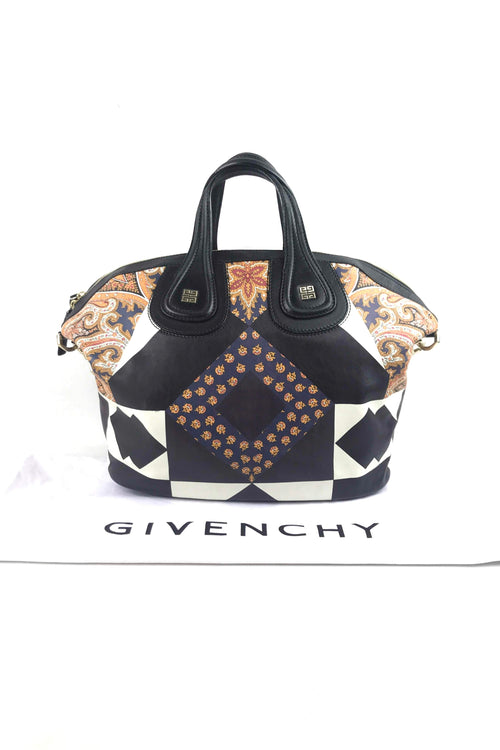 Multicolour Patchwork Printed Lambskin Medium Nightingale Bag W/ GHW