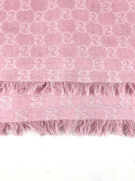 Pink Guccissima Logo Scarf