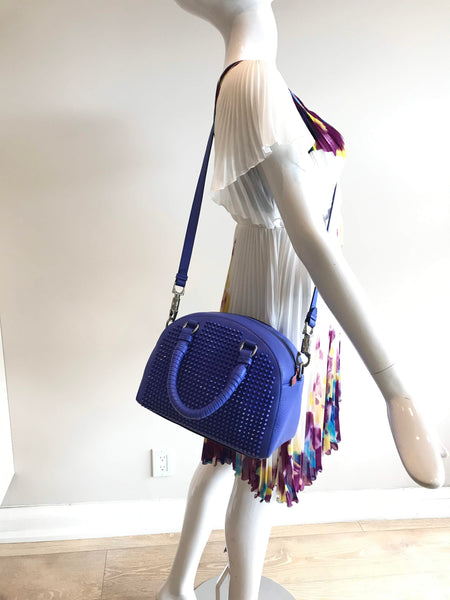 Electric Blue Panettone Spiked Bowling Bag W/ SHW