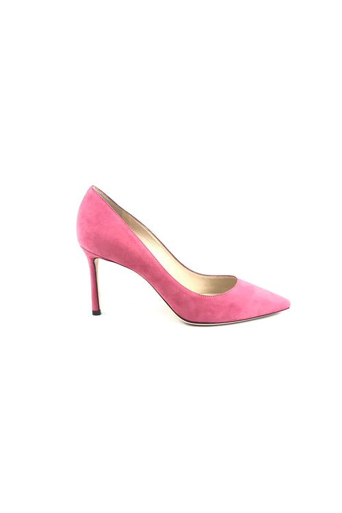 Candyfloss Suede Romy 85 mm Pumps