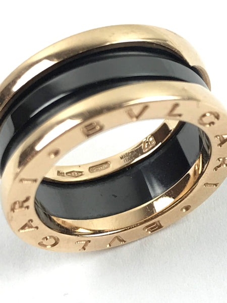 18K Rose Gold/Black Ceramic B.Zero 1 2-Band Ring
