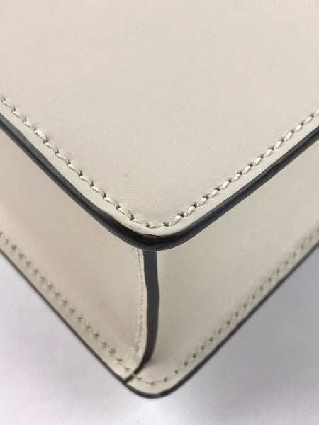 Off White Leather Sylvie Small Shoulder Bag