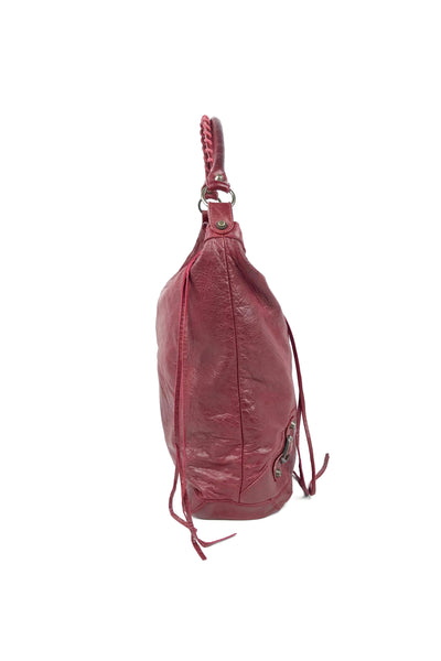 Red Agneau Leather Day Bag AGHW