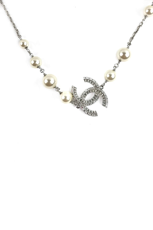Pearl CC Station Necklace