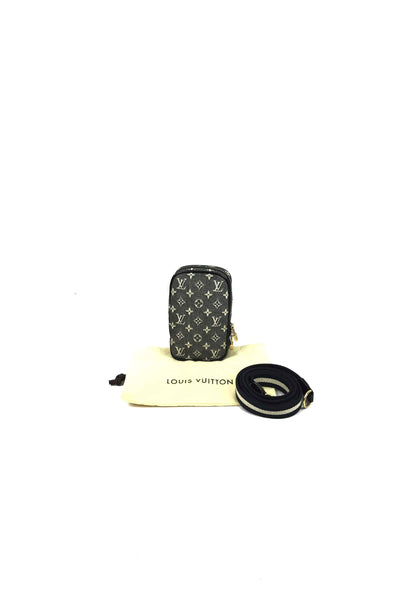 Black Monogram Mini Lin Phone/Camera Case W/ GWH - Haute Classics