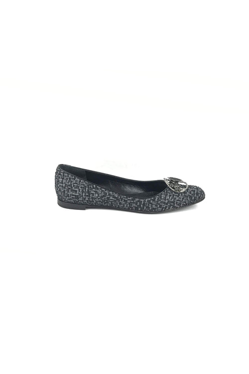 Black/Grey Tweed Rachie Flats