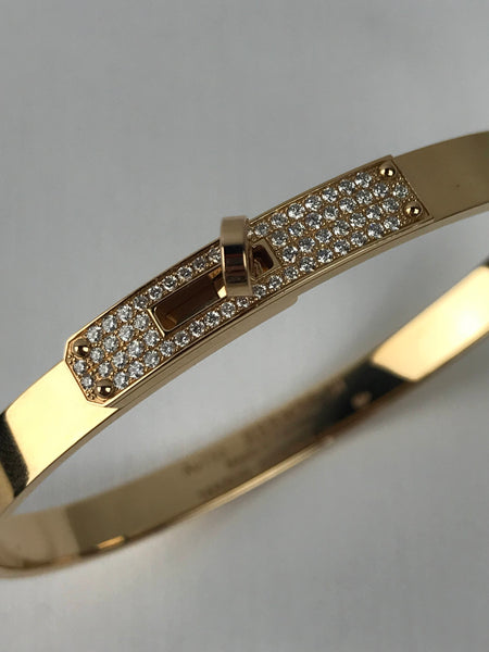 Kelly Small Rose Gold 18K Bracelet W/ 61 Diamonds