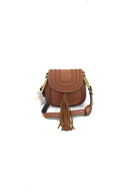 Caramel Smooth Leather Whipstitched Mini Hudson Bag