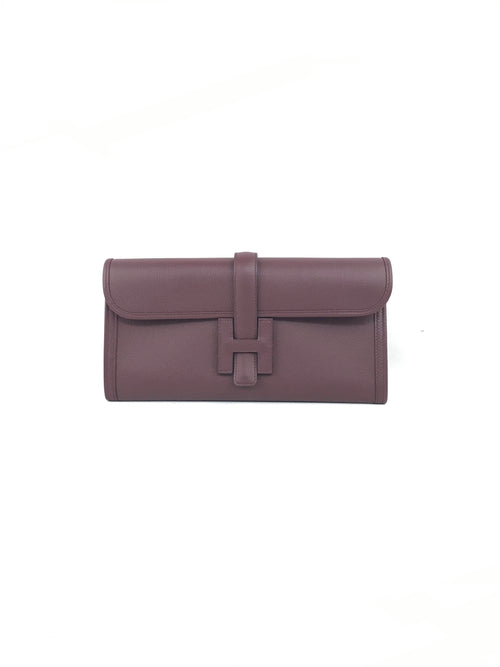Jige Elan 29 Bordeaux Grained Leather Clutch