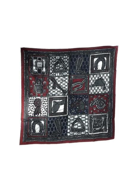 Grey/Black/Navy/Burgundy Le Boubou H Cotton Scarf