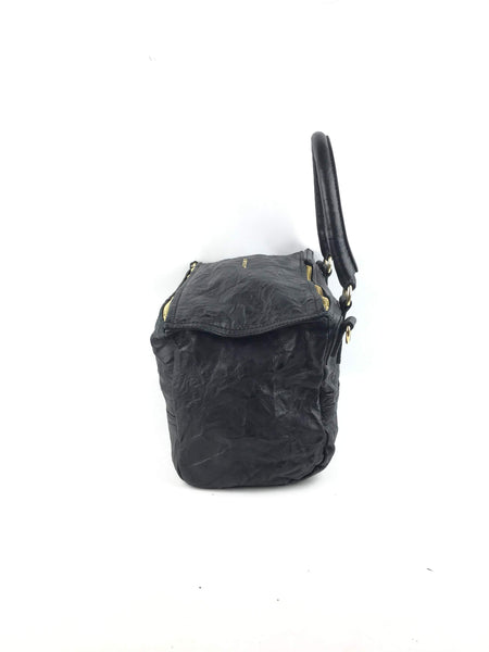 Black Sheepskin Medium Pepe Pandora Bag W/ GHW