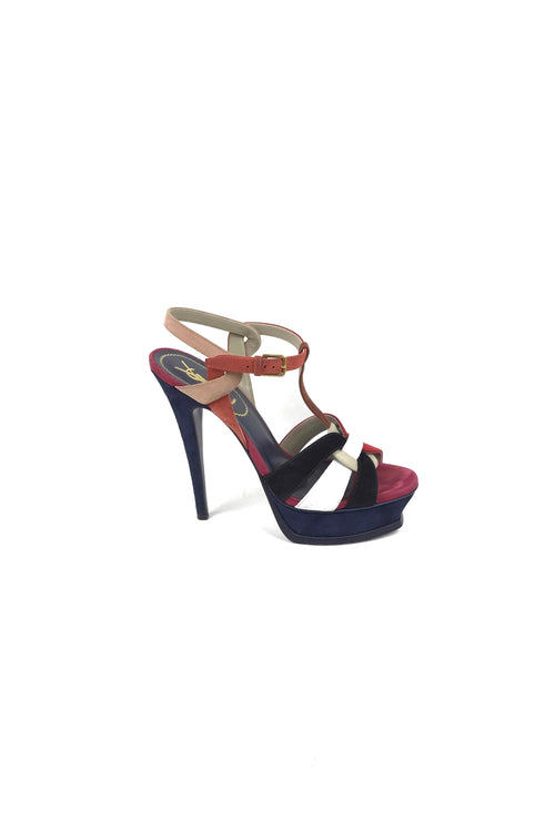 White/Red/Blue Suede Tribute 105 Sandals