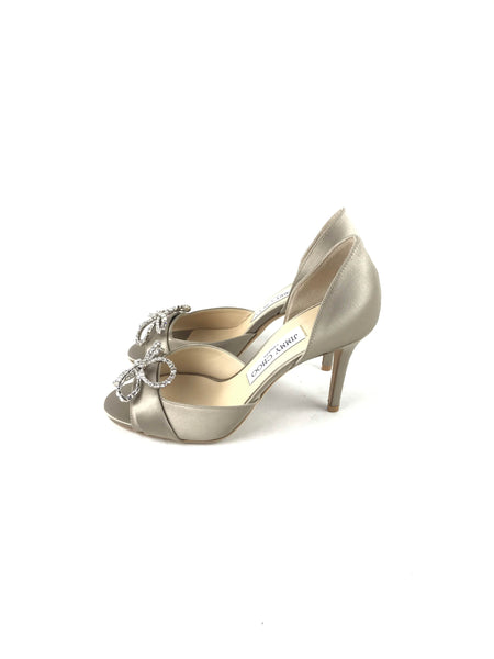 Marble Satin Valaire 85 mm Pumps