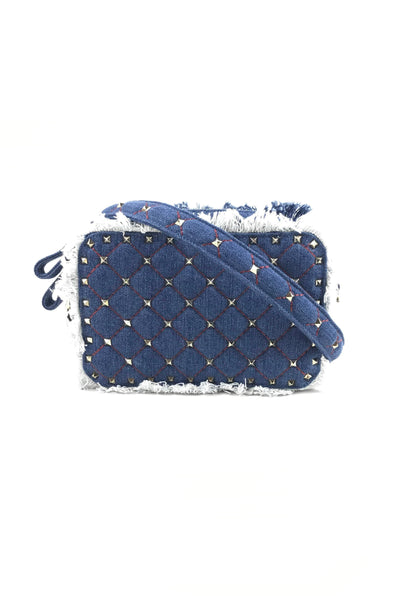 Garavani Denim Rockstud Chain Crossbody Chain Bag