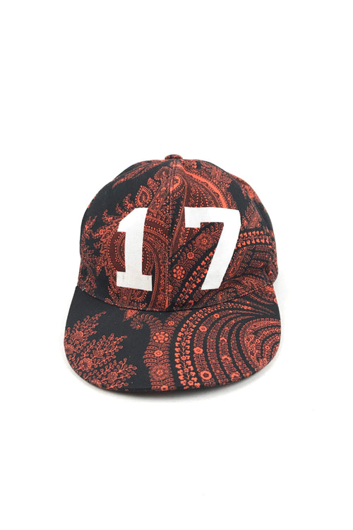 Orange Paisley/17 Print Cap