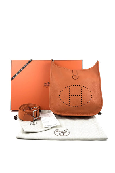 Orange Clemence Evelyne 29 PM Bag w/ PHW
