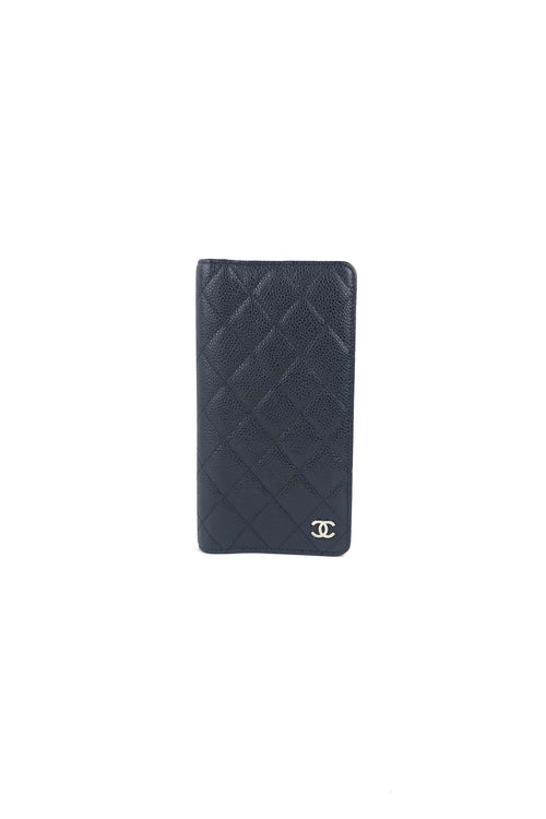 Black Caviar Quilted Medium Agenda Cover - Haute Classics