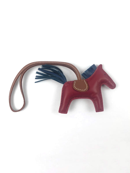 Magenta/Blue/Brown Leather Rodeo Charm PM