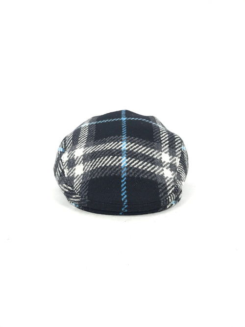 Black Nova Check 100% Wool Cap