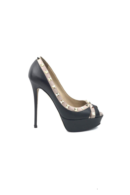 Black Follies Lace 100 Pumps