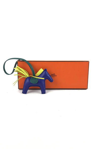 Blue/Green/Yellow Tri-color Rodeo PM Leather Charm