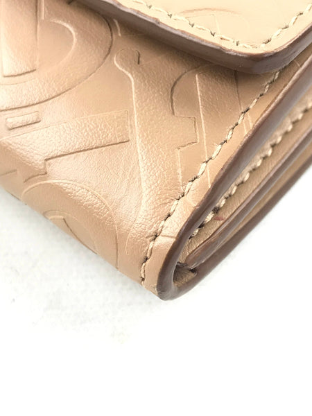 Camel Monogram Cow Leather Wallet W/GHW