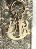 Metallic Gold Python Leather Lady Dior Mini Bag