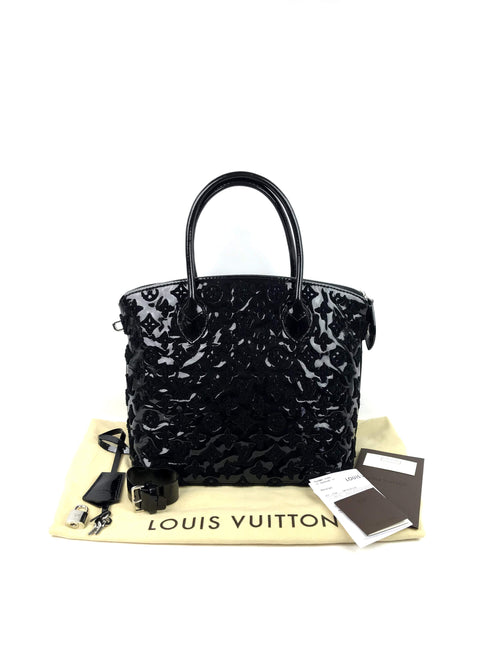 Limited Edition Black Vernis Leather Fascination Lockit Bag