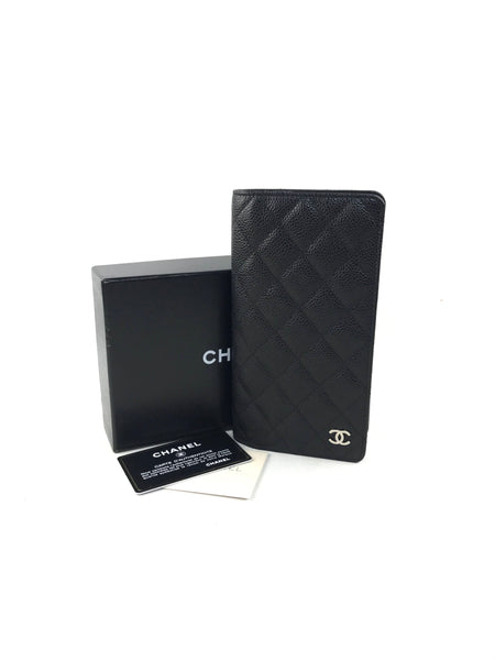 Black Caviar Leather Agenda W/SHW