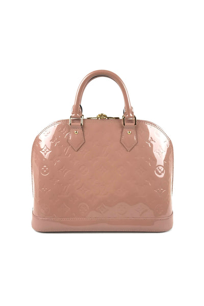 Rose Velours Vernis Alma PM  Bag
