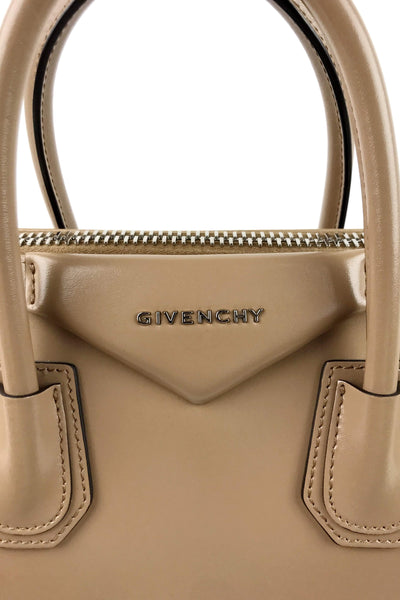 Tan Smooth Calf Leather Small Antigona Satchel w/ Antique SHW & Strap - ON LAYAWAY