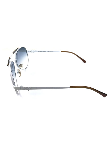 White Aviator Sunglasses
