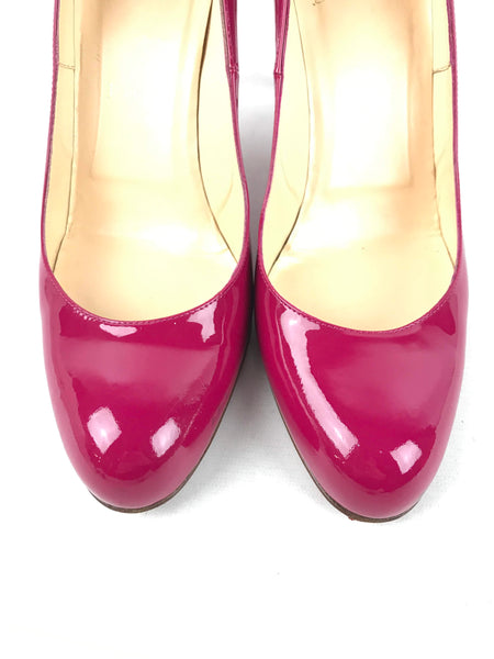 Fuchsia Patent Leather Simple 85 mm Pumps