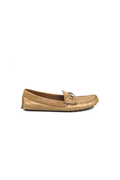 Light Brown Leather Driving Loafers W/ SHW