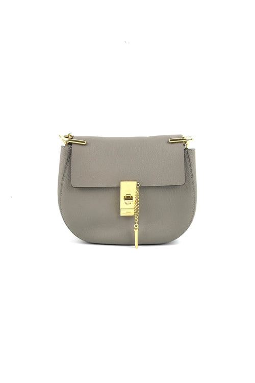 Motty Grey Small Drew Bag W/ GHW