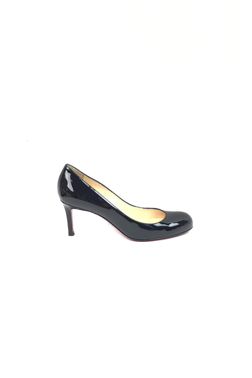 Black Patent Calfskin Simple 70 Pumps - Haute Classics