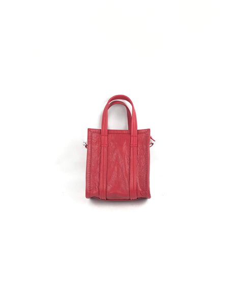Coquelicot Chevre Leather Bazar XXL Tote