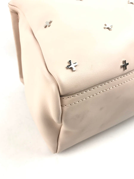 Powder Pink Smooth Leather Cross Pandora Small Satchel