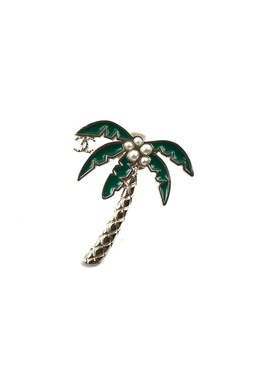 2017 Cruise Collection Palm Tree Brooch W/ SHW