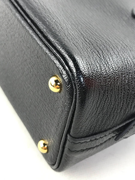 Mini Noir Chevre Leather Bollide W/GHW