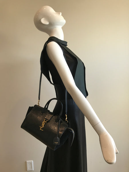 Black Suede/Snakeskin Downtown Cabas Bag