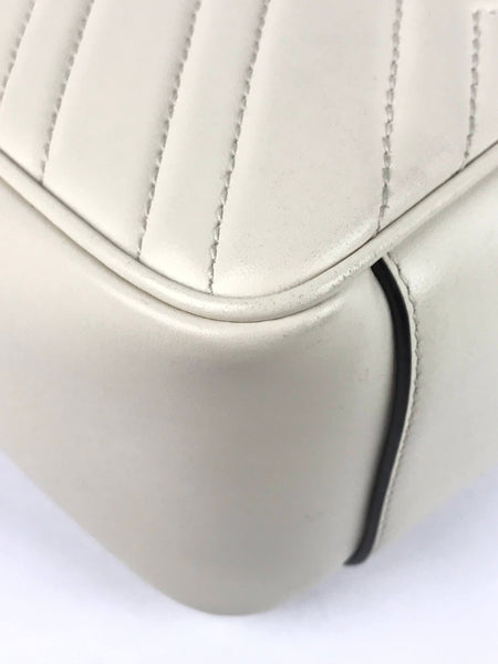 Cream White Marmont Top Handle Bag W/GHW