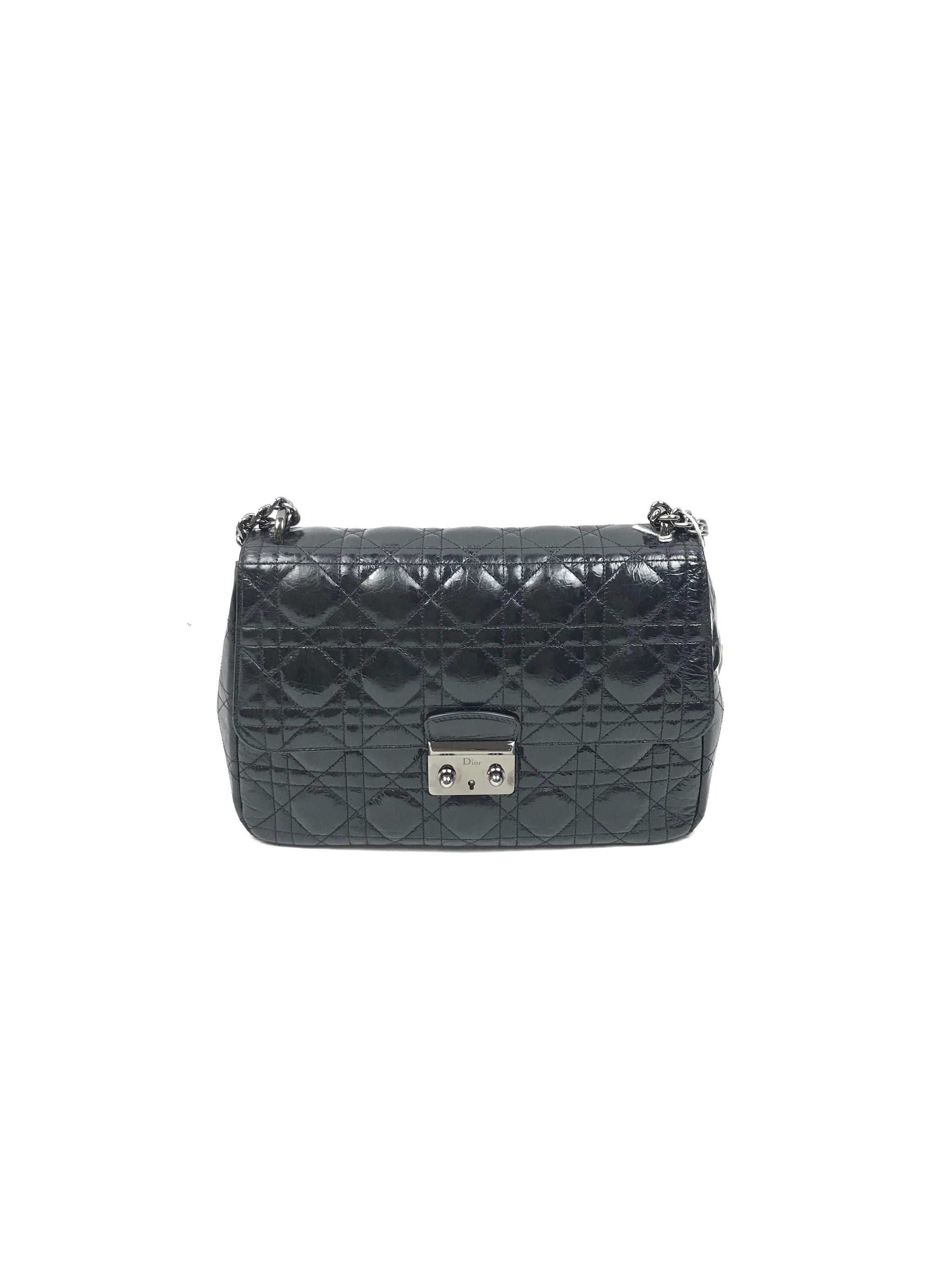 Black Patent Crinkled Calfskin Cannage Miss Dior Large Flap Bag – Haute  Classics e748ee9f0c916