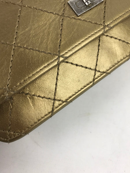 Gold Crinkled Leather Reissue WOC W/ RHW