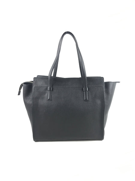 Black Supple Leather Amy Tote