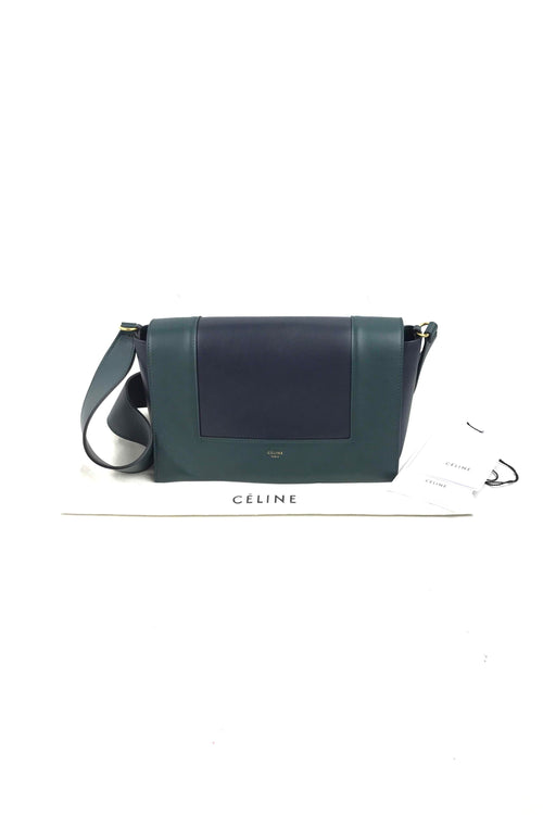 Navy/Green Frame Bag W/ GHW