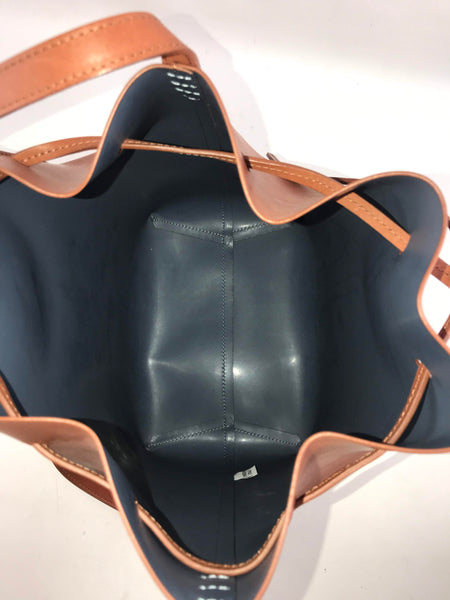 Saddle Calfskin Bucket Bag W/ GHW