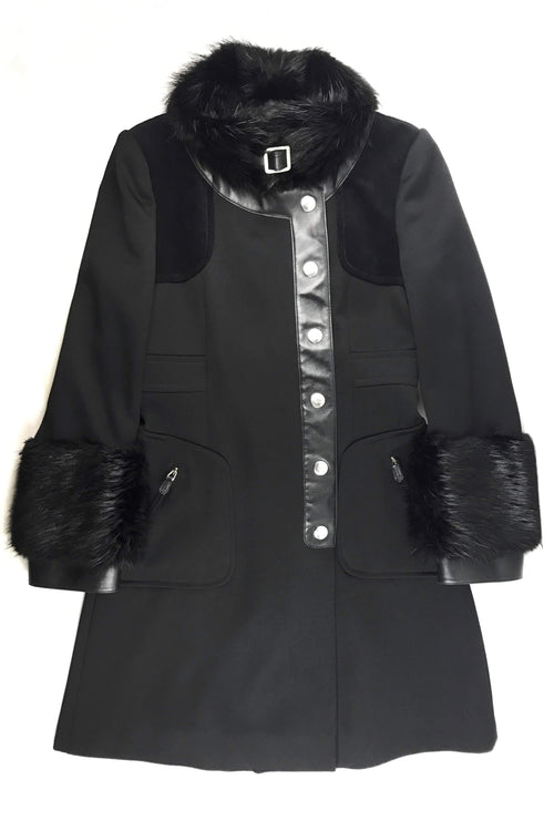 Black Fur/Wool Frock Coat