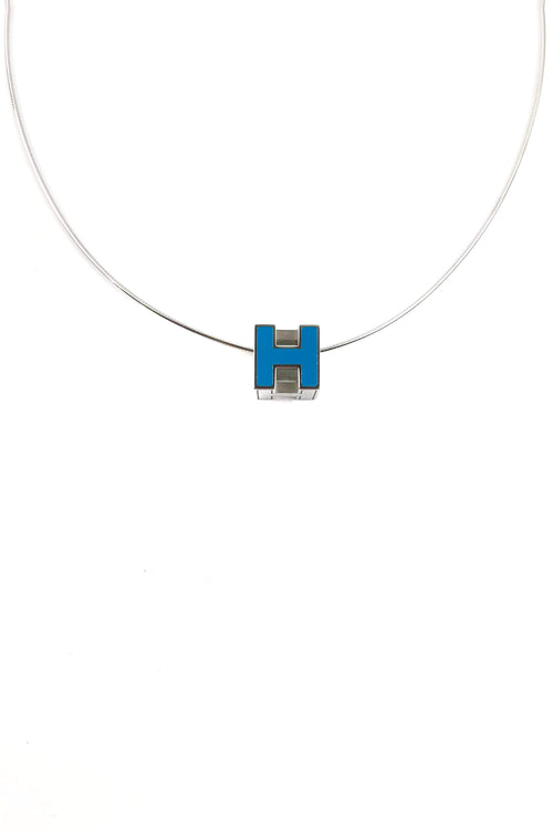 Turquoise Cage d'H Necklace W/ SHW